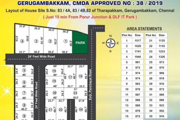 land and plot for sale in Chennai gowrivakkam
