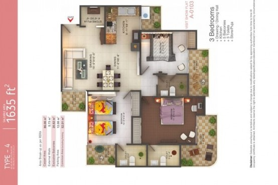 Luxurious Flat In Fusion Homes Near Hindone River, Greater Noida